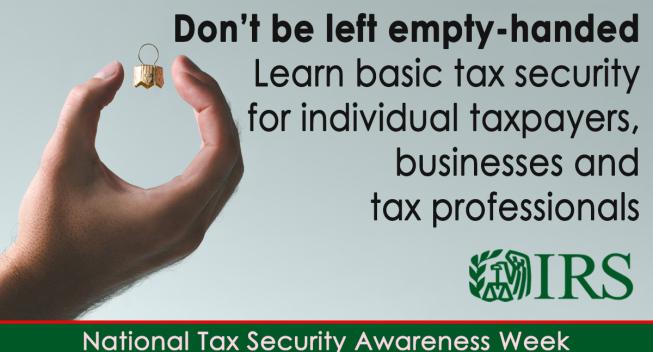El IRS (Servicio de Impuestos Internos), TurboTax y socios de la industria anuncian el lanzamiento de la Semana Nacional de Seguridad Tributaria 2020.