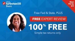 Consigue una revisión de un experto y presenta GRATIS tu declaración de impuestos con TurboTax Live Basic por tiempo limitado