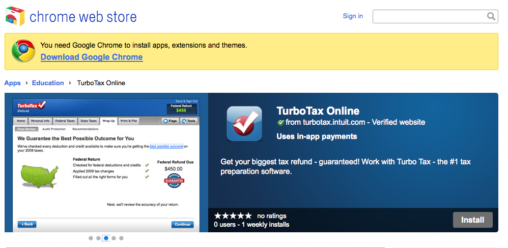 TurboTax Online Now Live in Google Chrome Web Store | The TurboTax Blog