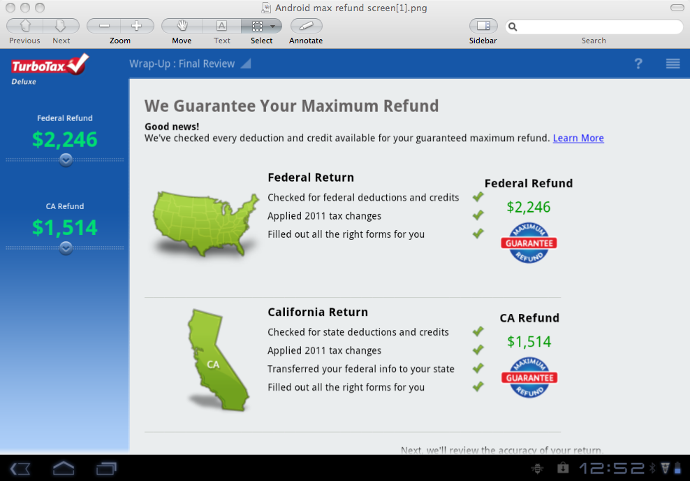 TurboTax Announces New Android Tax App for Mobile Tablet