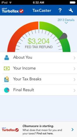 Intuit TurboTax Releases TaxCaster iOS7 App!