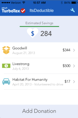 TurboTax ItsDeductible Goes Mobile:  Turn Donations to Tax Savings on the Go