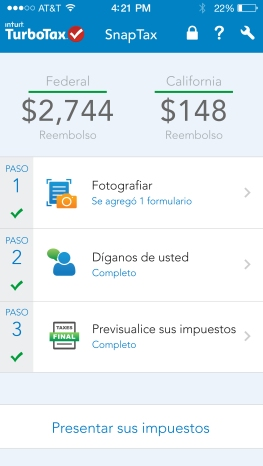 TurboTax SnapTax Now Available in Spanish