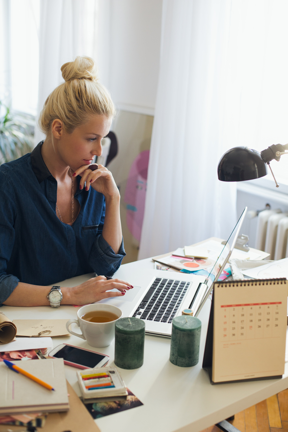 Home Business: Businesswoman at Her Laptop