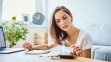Women working on budget
