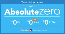 TurboTax Absolute Zero:  The No-cost Tax Return