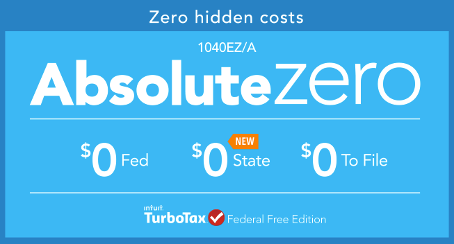 TurboTax Absolute Zero: The No-cost Tax Return | The