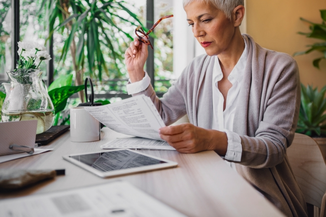 Businesswoman Reading Documents