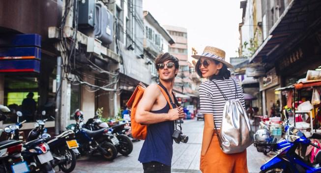Couple on the Streets of Bangkok