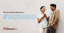 Tell your friends about your #TaxHero