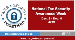 The IRS, TurboTax, and Industry Partners Announce the Beginning of National Tax Security Awareness Week 2019