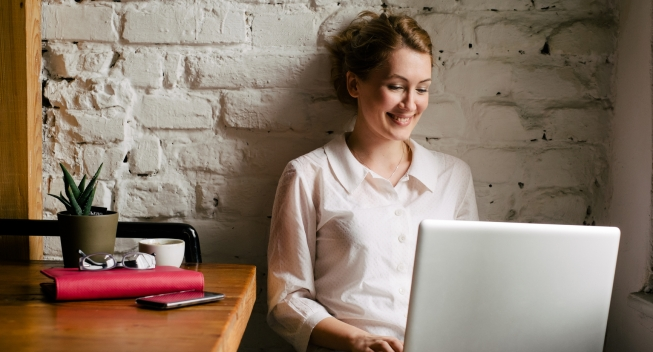 Businesswoman Working On A Laptop