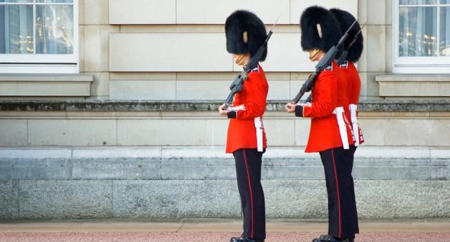 Ceremonial guards, London