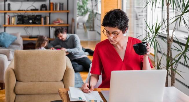Woman saving for retirement