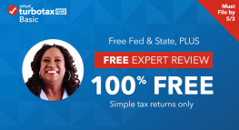Get Expert Review and File for FREE with TurboTax Live Basic for a Limited Time