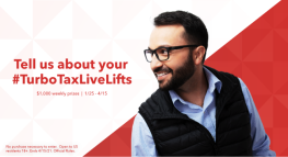 TurboTax Launches #TurboTaxLiveLifts Sweepstakes