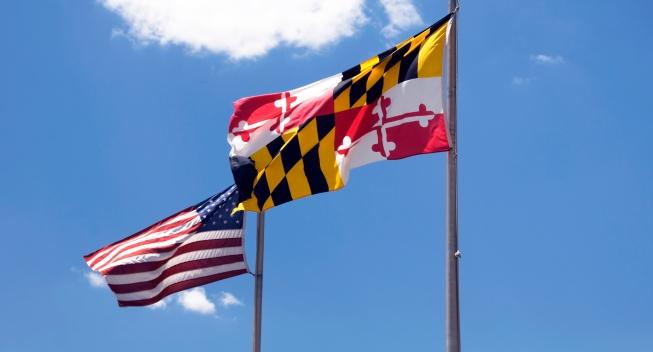 maryland and us flag
