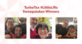 TurboTax #LittleLifts Sweepstakes Winners
